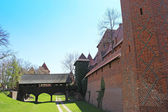 Malbork castle in Pomerania region of Poland. UNESCO World — Stock Photo