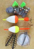 对木制捕鱼设备 — 图库照片
