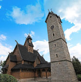Norwegian temple Wang in Karpacz, Poland — Stock Photo