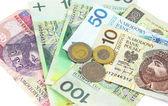 Polish zloty paper money for background — Stock Photo