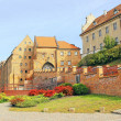 Granaries in Grudziadz above the river Wisla, Poland — Stock Photo #33254835