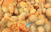 Potatoes in bags — Stock Photo