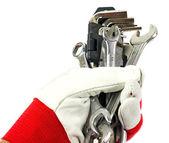 Hex sleutels in de hand — Stockfoto