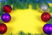 Christmas green framework isolated — Stock Photo