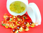Cod liver oil omega 3 gel capsules — Stock Photo