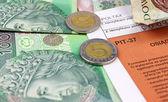 Polish income tax PIT-37 — Stock Photo