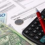 Polish Information taxpayer revenues pit-28 — Stock Photo #39815401