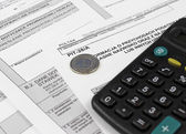 Polish Information taxpayer revenues pit-28 — Stockfoto