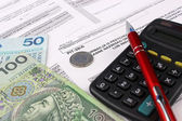Polish Information taxpayer revenues pit-28 — Stock Photo