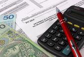 Polish Information taxpayer revenues pit-28 — Zdjęcie stockowe
