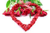 在白色背景上的红玫瑰 — 图库照片