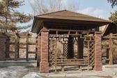 Wooden pavilion — Stock Photo