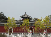 The ancient Chinese traditional architecture — Stock Photo