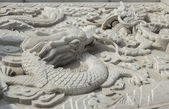 Chinese architecture dragon pattern — Stock Photo