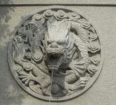 Chinese architecture dragon pattern — Stock Photo