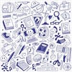 School education - doodles — Stock Vector