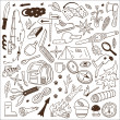 Camping - doodles collection - 图库矢量图片