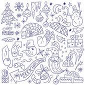 Noel doodles — Stok Vektör