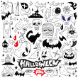 Halloween monsters - doodles — Stock Vector