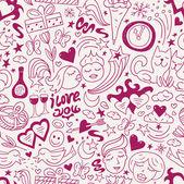 love - seamless pattern — Vettoriale Stock