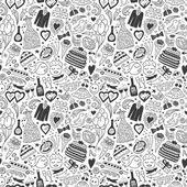Wedding - seamless pattern — Stock Vector