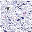 School education - doodles collection - Stock Vector