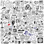 Ciência doodles — Vetorial Stock