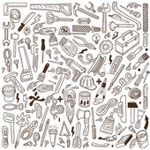 Working tools - doodles — Stock Vector
