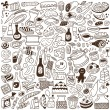 Food doodles collection — Stock Vector