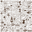 Stock Vector: Food doodles collection