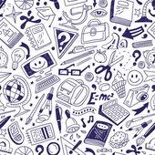 School education - seamless background — Stock Vector