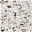 Royalty-Free Stock Vector Image: Sweets doodles