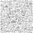 Food doodles - Stock Vector