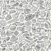 Essen, kochen - nahtlose muster — Stockvektor