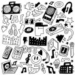 Music party - doodles set — Stock Vector #25980771