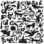 Evil doodles — Stock Vector