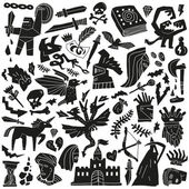 Fairy tale - doodles — Stock Vector