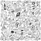 кулинария каракули — Cтоковый вектор