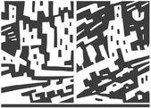 Ville et voitures - abstract vector background — Vecteur