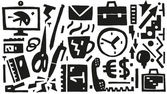 Business , office things - vector icons — Stock Vector