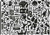 School , education - doodles set — Stock Vector