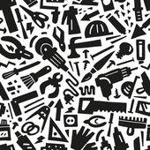 Narzędzia pracy - bezszwowe tło — Wektor stockowy