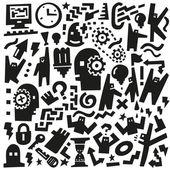 Doodles мышления — Cтоковый вектор