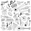 Jazz - doodles — Vector de stock #27616851