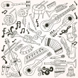 Jazz - doodles — Vector de stock #27623459