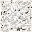 Vecteur: Jazz - doodles