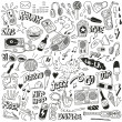 Music - doodles collection — Stock Vector