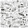 Stock Vector: Music - doodles collection