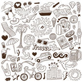 Travel - doodles collection — Stock Vector