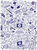 Edukacja - doodle kolekcja — Wektor stockowy